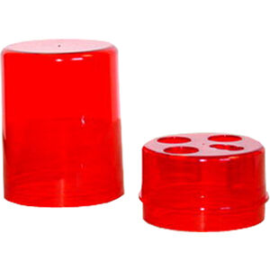 Lee Precision Red Round Die Box Holds Four Dies Hard Plastic Red