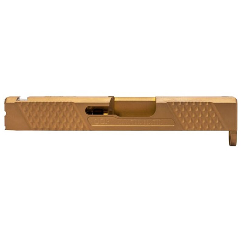 Grey Ghost Precision SPG-43 V2 Stripped Slide fits GLOCK 43 Models Machined 17-4 Stainless Steel DLC Coated Bronze