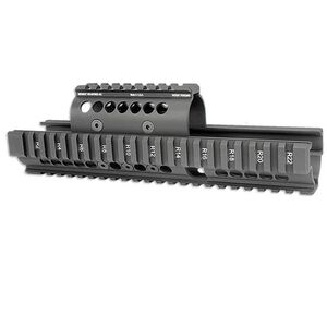Midwest Industries Universal AK-47/AK-74 Extended Hand Guard Standard Top Cover 6061 Aluminum Matte Black MI-AK-X
