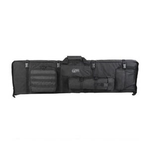 Voodoo Tactical Premium Deluxe Rifle Drag Bag and Shooting Mat Nylon Black