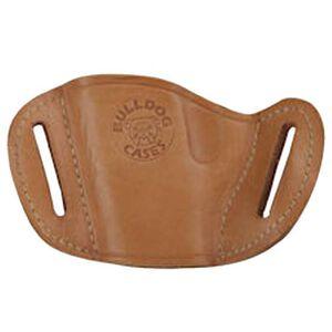 Bulldog Case Belt Slide Medium Semi Auto Pistol Holster Ambidextrous Leather Tan MLT-M
