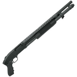 "Mossberg 590 Pump Action Shotgun 12 Gauge 20"" Barrel 8 Rounds Pistol Grip Parkerized Aluminum Receiver Black 50667"