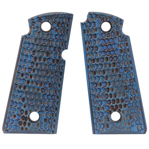 Hogue Kimber Micro .380 Ambidextrous Safety Grip Piranha G10 G-Mascus Blue Lava