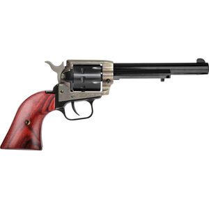 """Heritage Rough Rider .22 LR Single Action Rimfire Revolver 6.5"""" Barrel 9 Rounds Cocobolo Wood Grips Case Hardened and Blued"""
