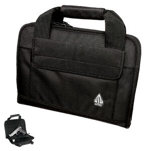 Leapers UTG Deluxe Single Pistol Soft Case Nylon Black PVC-PC01B