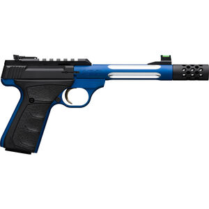 "Browning Buck Mark Plus Lite Competition .22 LR Semi Auto Rimfire Pistol 5.9"" Threaded Barrel 10 Rounds Picatinny Rail Synthetic Grips Blue/Black Finish"