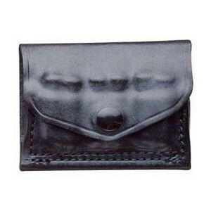 DeSantis 2x2x2 A08 .38/.357 Caliber Shell Pouch Ambidextrous Leather Black