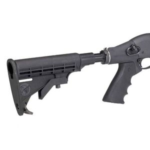Mesa Tactical LEO Telescoping Stock Adapter Hydraulic Recoil Kit Remington 870 12 Gauge AR-15 Stock/Pistol Grip Conversion QD Sling Swivel Socket Aluminum Matte Black 92230