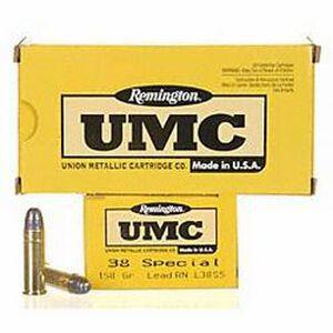 Remington .38 Special UMC Ammunition 50 Rounds LRN 158 Grains
