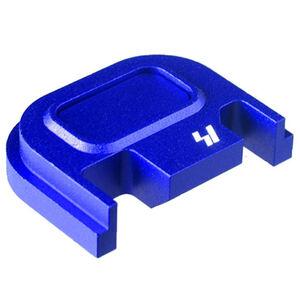 Strike Industries GLOCK Slide Cover Plate Fits All GLOCK Models Except 42/43 V1 Button Aluminum Blue SI-GSP-V1-BLU