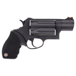 """Taurus Judge Public Defender Double Action Revolver .45 Long Colt/.410 Bore 2.5"""" Chamber 2.5"""" Barrel 5 Round Fixed Red Fiber Optic Front Sight/Fixed Rear Sight Ribbed Rubber Grip Carbon Steel Frame Matte Black Finish"""