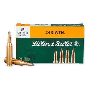 Sellier & Bellot .243 Winchester Ammunition 20 Rounds 100 Grain Soft Point 2,904fps