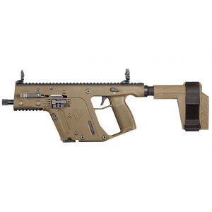 "Kriss USA Kriss Vector Gen II SDP-SB 9mm Luger Semi Auto Pistol 5.5"" Barrel 17 Rounds Pistol Stabilizing Brace Flat Dark Earth Finish"