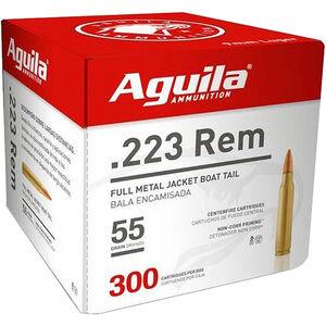 Aguila Centerfire Rifle .223 Rem Ammunition 300 Rounds 55 Grain FMJ 3215fps