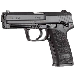 "H&K USP V1 Semi Auto Handgun .45 ACP 4.41"" Barrel 10 Rounds Polymer Frame Black 704501-A5"