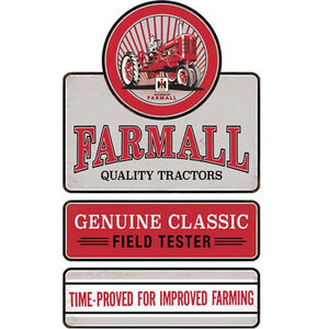 """Open Road Brands """"Farmall"""" Linked Embossed Tin Sign 11.4""""x19"""""""