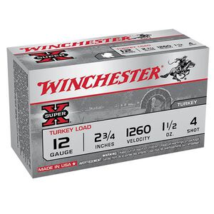 """Winchester 12 Gauge 2.75"""" #4 Copper Plated 1.5 oz 10 Rounds"""