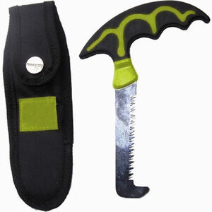 GSM Outdoors HME Bone Saw with Scabbard Stainless Steel Blade Black Easy Grip T-Handle