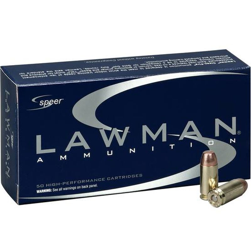 Speer Lawman .40 S&W Ammunition 50 Rounds TMJ 180 Grain 1,000 Feet Per Second
