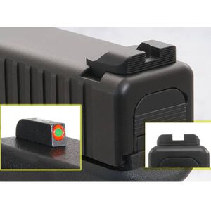 AmeriGlo GLOCK 9mm/.40/.357 Hack Style Sights Serrated Rear Green Tritium with Orange Outline Front GL-433
