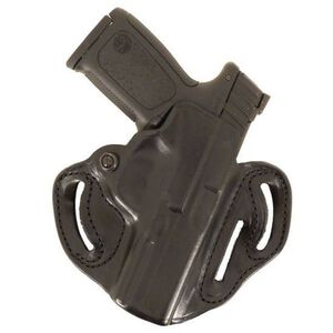 DeSantis 002 GLOCK 19, 23, 32, 36 Speed Scabbard Belt Holster Right Hand Leather Black