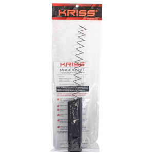 Kriss-USA Mag-Ex Kit 2 Magazine Extension Kit fit GLOCK 17 Factory Magazines Extends to 40 Round Total Capacity Polymer Matte Black