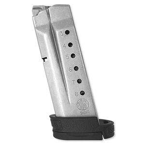 Smith & Wesson M&P Shield Magazine 9mm Luger 8 Rounds Stainless Steel 199360000