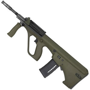 "Steyr AUG A3 M1 NATO Semi Auto Rifle .223 Rem/5.56 NATO 16"" Chrome Lined Barrel 30 Round Standard AR-15 Magazine with Short Rail Matte Green Finish AUGM1GRNNATOS"
