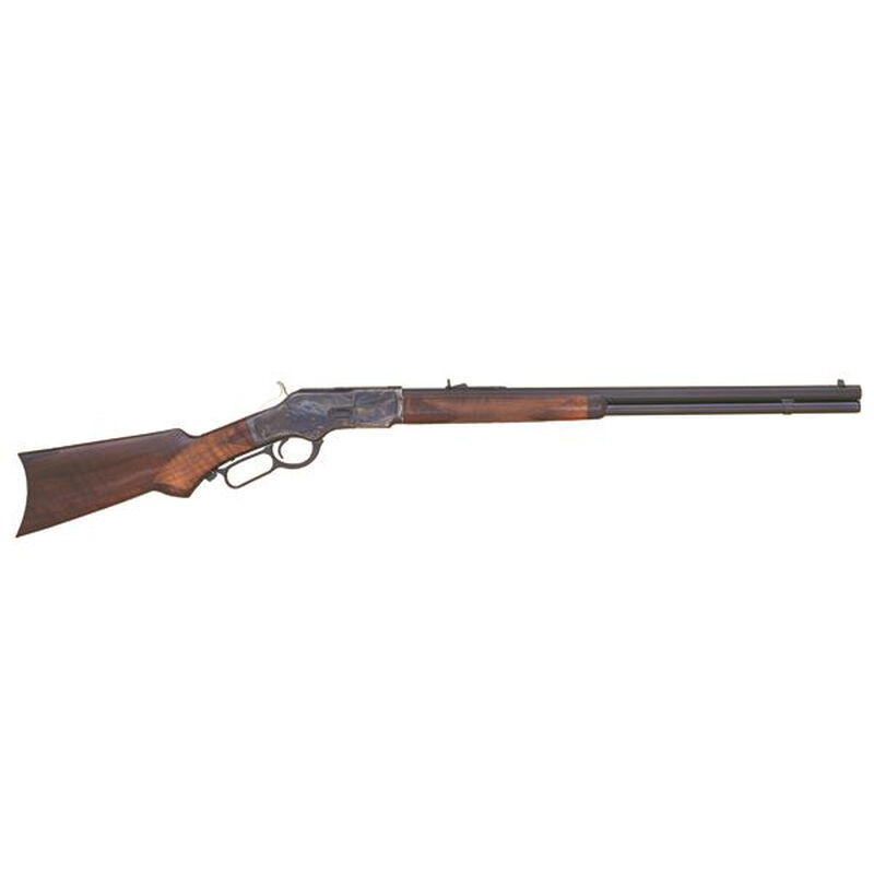 """Cimarron Firearms 1873 Deluxe Sporting Lever Action Rifle .45 Long Colt 24"""" Barrel 12 Rounds Walnut Stock Blue Finish CA277"""