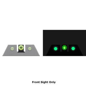 Night Fision Glow Dome Tritium Night Sight Front Sight All GLOCK Models Green Tritium/Yellow Ring Metal Body Black Finish