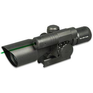 Firefield 2.5-10x40 Riflescope Illuminated Mil Dot Reticle 1/4 MOA Green Laser BDC Turret Matte Black FF13014
