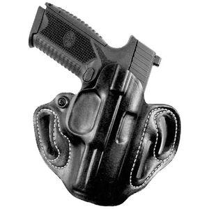 DeSantis Speed Scabbard Belt Holster Sig P320 Left Handed Leather Black 002BB7HZ0