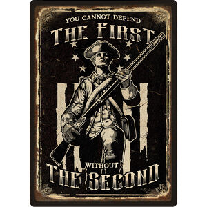 """River's Edge Products """"First Amendment"""" Tin Sign 12 Inches by 17 Inches 2253"""