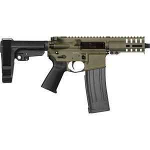 """CMMG Banshee 300 Mk4 5.7x28 AR-15 Semi Auto Pistol 5"""" Barrel 40 Rounds   RML4 M-LOK Free Float Hand Micro RipBrace Guard Cerakote OD Green"""