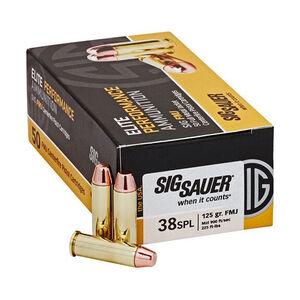 SIG Sauer Elite Performance .38 Special Ammunition 50 Rounds 125 Grain FMJ 900fps