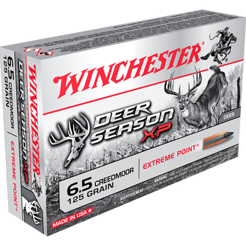 Winchester Deer Season XP 6.5 Creedmoor Ammunition Extreme Point 125 Grain 2850 fps