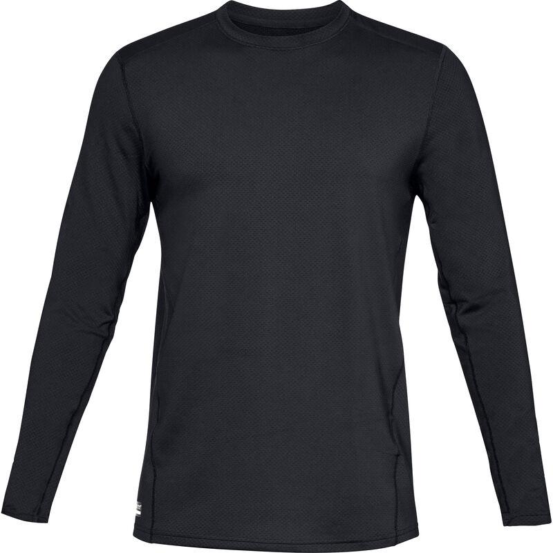 Under Armour Tac Reactor Base Crew Shirt Long Sleeve Men's Polyester Elastane XL Black