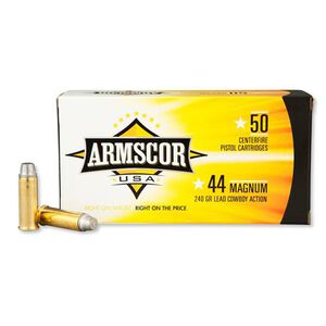 Armscor USA .44 Magnum Ammunition 50 Rounds LSWC 240 Grains F AC 44M-1N