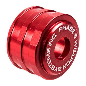 Phase 5 12 Gauge Shotgun Low-Drag High Visibility Shotgun Magazine Tube Follower 7075-T6 Aluminum Anodized Finish Red