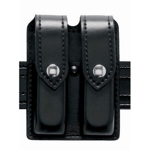 Safariland Model 77 Double Magazine Pouch Fits Springfield XDM 9/40 Hidden Snap SafariLaminate Hi-gloss Black