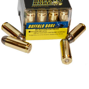 Buffalo Bore .50 AE Ammunition 20 Rounds HC Lead 380 Grains