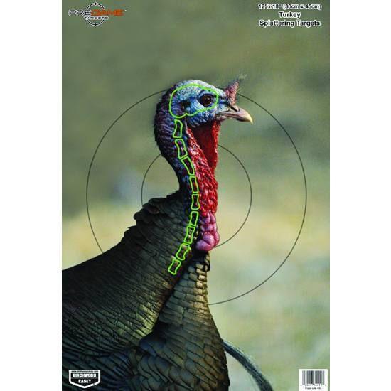 "Birchwood Casey Pregame Splattering Animal Target 12/""x18/"" Turkey 8 Pack 35403"