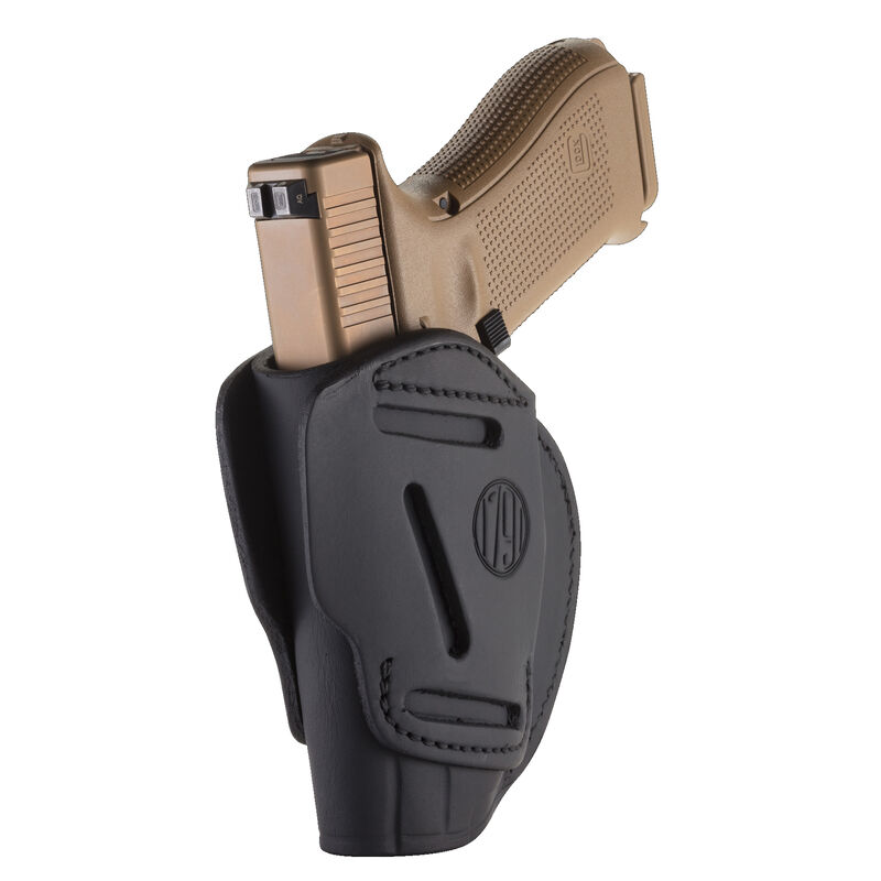 1791 Gunleather 3WH 3 Way Multi-Fit OWB Concealment Holster for Full Size/Compact Semi Auto Models Ambidextrous Draw Leather Stealth Black