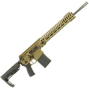 "POF Revolution AR Style Semi Auto Rifle .308 Winchester 18.5"" Match Grade Barrel 20 Rounds 14.5"" M-LOK Free Float Hand Guard MFT Pistol Grip/Stock Cerakote Burnt Bronze"