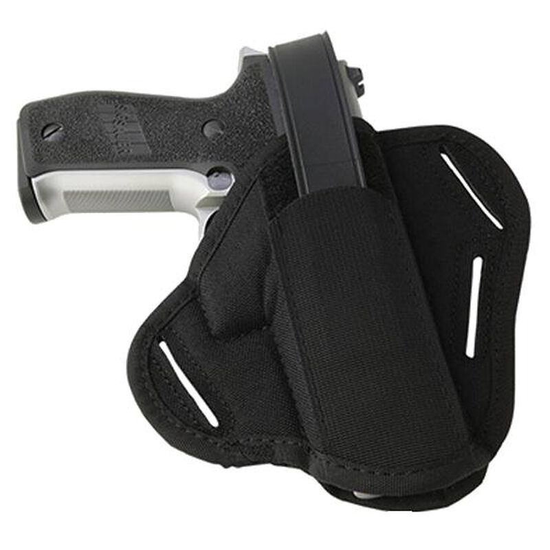 "Uncle Mike's Super Belt Slide Holster 2"" Barrel Small Frame Revolvers with Hammer Spur Ambidextrous Black 8636-0"