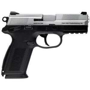 "FNH USA FNX-9 Semi Automatic Pistol 9mm Luger 4"" Barrel 10 Rounds Polymer Frame Black with Stainless Slide 66838"