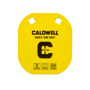 """Caldwell AR500 5"""" Caldwell C Gong Target Plate Yellow 1116700"""