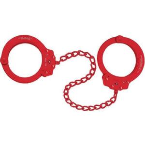 Peerless Handcuff Company Oversize Leg Irons Red
