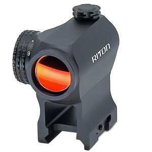 Riton RT-R Mod 3 RMD Red Dot 6061-T6 Aluminum 1 MOA Per Click Fixed Parallax 3 Mounts Matte Black
