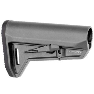 Magpul MOE SL-K AR-15 Carbine Stock Mil-Spec Diameter Compact PDW Style Stock Ambidextrous Release Latch Polymer Stealth Gray MAG626-GRY